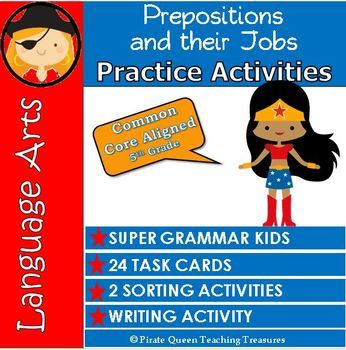 PREPOSITION JOBS Practice Activities / CCSS Aligned 5th Grade Up