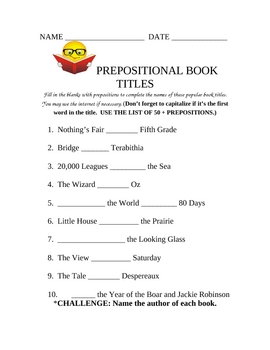 PREPOSITIONAL BOOK TITLES