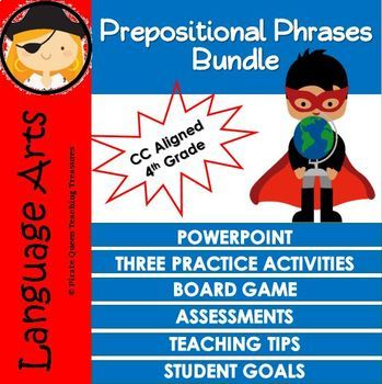 PREPOSITIONAL PHRASES CCSS Aligned 4th Grade Up