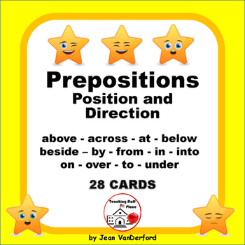PREPOSITIONS in Sentences | REVIEW | TASK CARDS | Grades 3