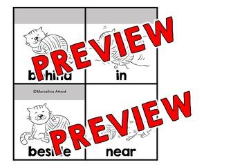 PREPOSITION ACTIVITIES: PREPOSITIONS FLIP BOOK: CAT THEME PREPOSITION PRINTABLES