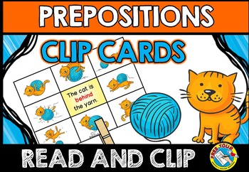 PREPOSITION ACTIVITIES: PREPOSITIONS CLIP CARDS: CAT THEME PREPOSITIONS CENTER