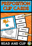 IDENTIFY PREPOSITIONS ACTIVITY CLIP CARDS WORKSHEETS CENTER PACKET KINDERGARTEN