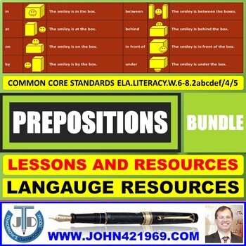 PREPOSITIONS LESSONS AND RESOURCES BUNDLE