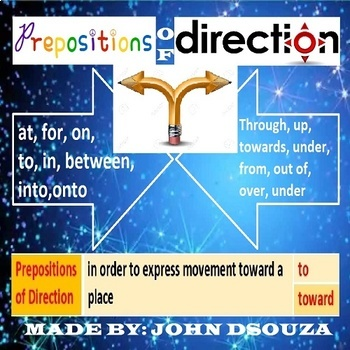 PREPOSITIONS OF DIRECTION LESSON AND RESOURCES