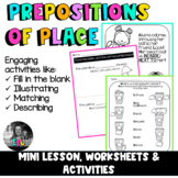 ESL Prepositions of place- Mini Lesson, Worksheets & Activities