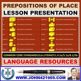 PREPOSITIONS OF PLACE LESSON PRESENTATION