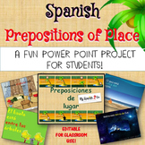 PREPOSITIONS:  Student Powerpoint Project