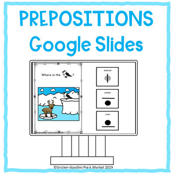 PREPOSITIONS WINTER ANIMALS GOOGLE SLIDES