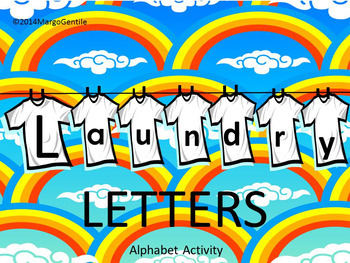 #backtoschool PREPRINTED on Regular Copy Paper Laundry Letters ABC Activity