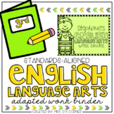 Third Grade English Language Arts Adapted Work Binder { Standards Aligned }