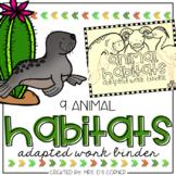 Animal Habitats Adapted Work Binder