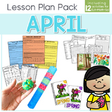 April Lesson Plan Pack   12 Activities for Math, ELA, + Science