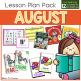 August Lesson Plan Pack | 12 Activities for Math, ELA, + Science