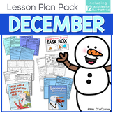 December Lesson Plan Pack | 12 Activities for Math, ELA, +