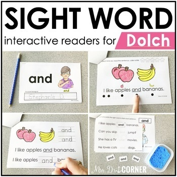 PRESALE Dolch Interactive Sight Word Reader Bundle | Sight Word Books
