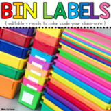 Editable Color Coded Bin Labels { 6 sizes! }