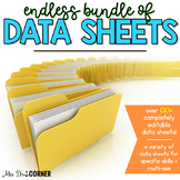 Endless Bundle of Data Sheets for Special Ed   Editable Data Sheets