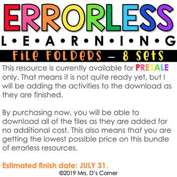 Errorless Learning File Folder Activities (104 file folders included!)
