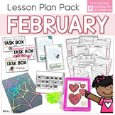 February Lesson Plan Pack | 12 Activities for Math, ELA, +