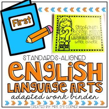 PRESALE First Gr English Language Arts Adapted Work Binder
