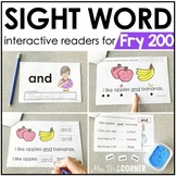 Fry 200 Interactive Sight Word Reader Bundle | Sight Word Books