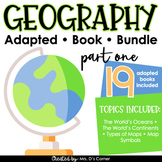 Geography Part 1 Adapted Book Bundle [ Level 1 and 2 ]   G