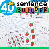 Holiday Sentence Builder Bundle   Special Education Writing Bundle