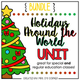 Holidays Around the World Adapted Book BUNDLE | Christmas Around the World