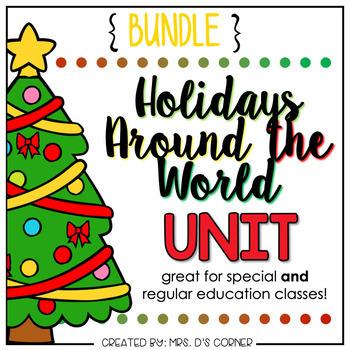 Holidays Around the World Adapted Book BUNDLE | Christmas Around the World