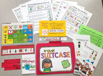 Holidays Around the World Book and Activity BUNDLE | Christmas Around the World