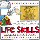Life Skills Adapted Work Binder {Skills for Home, School,