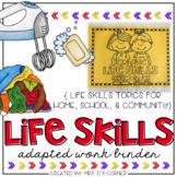 Life Skills Adapted Work Binder {Skills for Home, School,