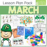 March Lesson Plan Pack | 12 Activities for Math, ELA, + Science