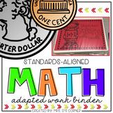 Math Adapted Work Binder BUNDLE - Standards Aligned (for Special Needs)