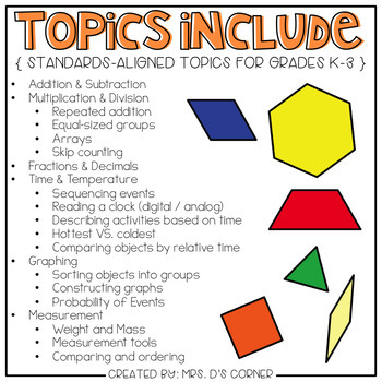 Math Adapted Work Binder BUNDLE - Standards Aligned (for Special Needs)