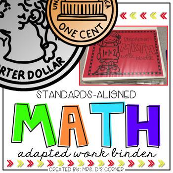 Math Adapted Work Binder® BUNDLE - Standards Aligned (for Special Needs)