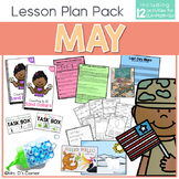 May Lesson Plan Pack | 12 Activities for Math, ELA, + Science