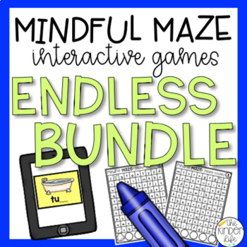 Mindful Maze ENDLESS Bundle Kindergarten Language Arts and Math