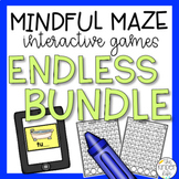 Digital Task Cards ENDLESS Bundle Language Arts and Math Mazes