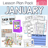 Mini January Lesson Plan Pack | 8 Activities for Math + ELA