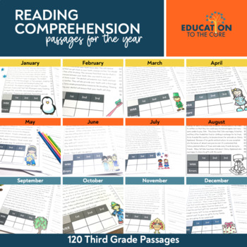 Monthly Fluency Passages 3rd Grade