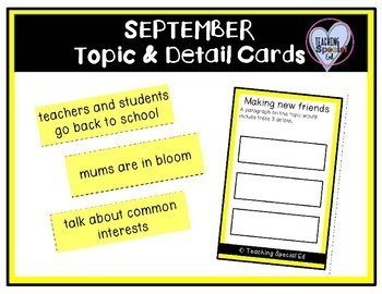 Monthly Topic and Detail Cards - GROWING BUNDLE
