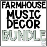 Music Classroom Decor BUNDLE - Farmhouse
