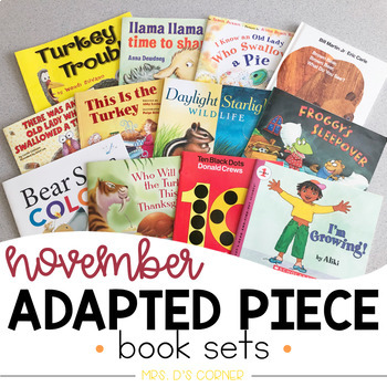 November Adapted Piece Book Set [12 book sets included!]