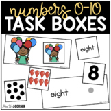 BUNDLE Numbers 0 to 10 Task Boxes ( 24 sets! ) | Counting