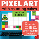 Pixel Art with Counting Cubes HOLIDAYS Growing BUNDLE