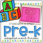 PreKindergarten Adapted Work Binder