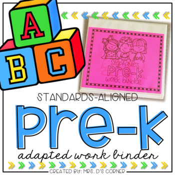 PreKindergarten Adapted Work Binder