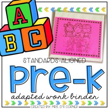 PreKindergarten Adapted Work Binder®   PreK Adapted Work Binder®